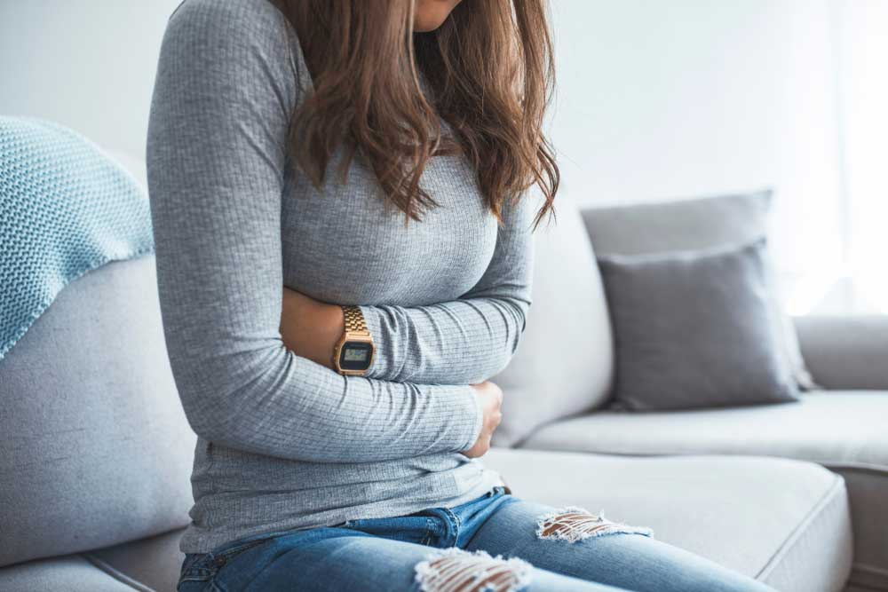 Pain in lower abdomen when coughing
